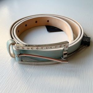 Garguliere Italy Genuine Soft Leather Belt Blue